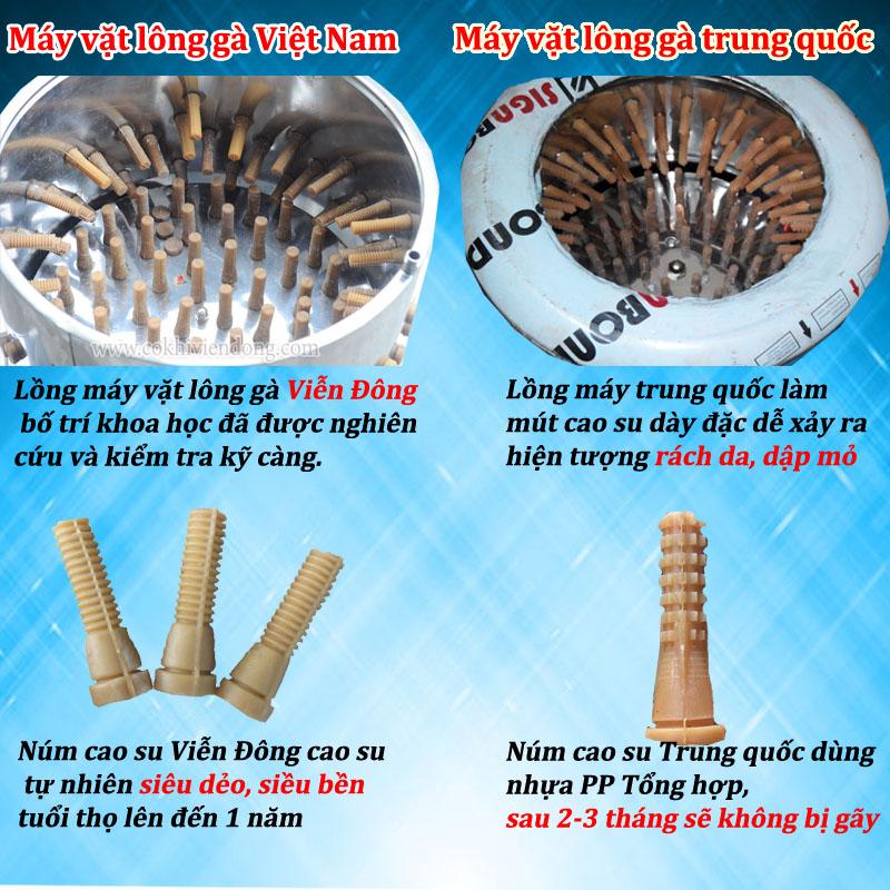 So sánh máy vặt lông gà Việt Nam và máy vặt lông gà Trung Quốc