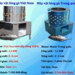 Phân biệt máy vặt lông gà vịt Việt Nam và Trung Quốc
