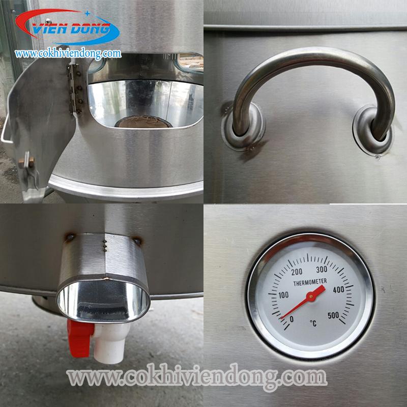 Đồng hồ đo nhiệt lu quay vịt inox