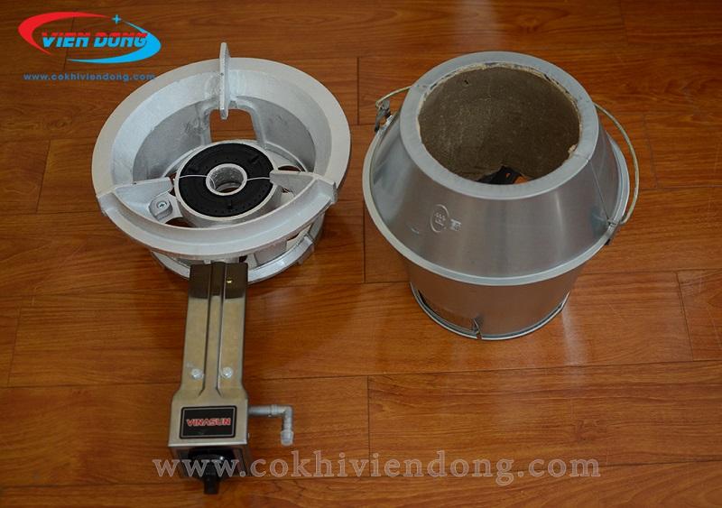 Lò quay vịt dùng gas và than