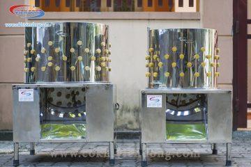 Máy vặt lông gà sử dụng inox 201 hay inox 304