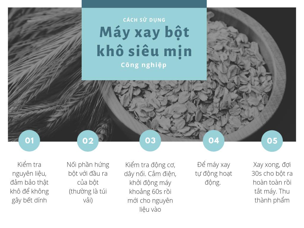 cách dùng máy xay bột gạo