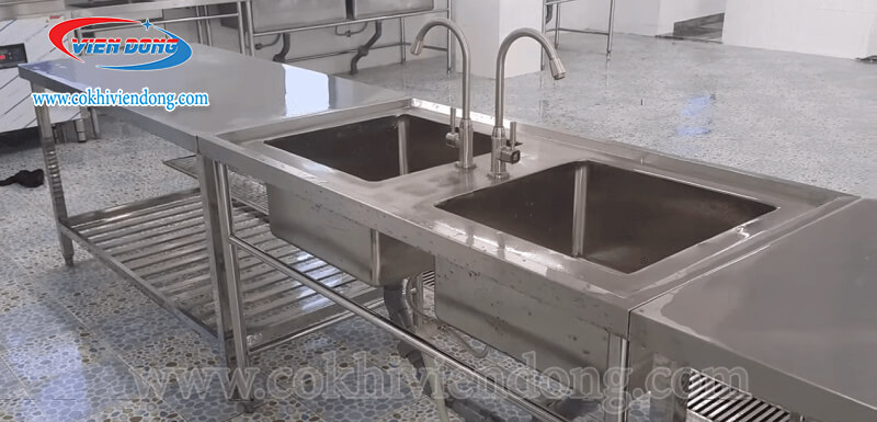 kích thước chậu rửa bát công nghiệp
