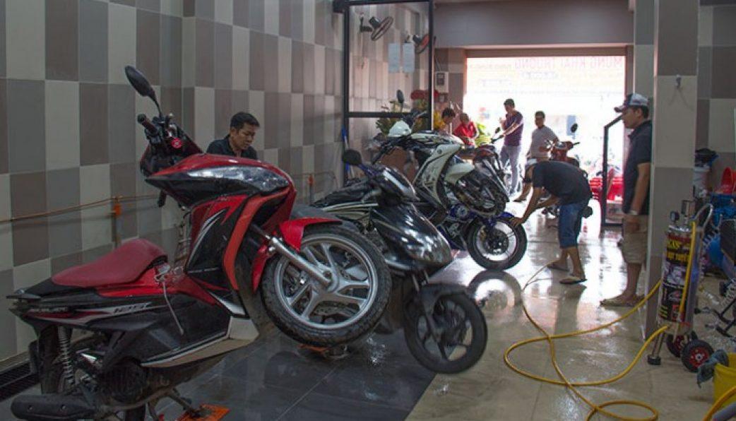 mở tiệm rửa xe máy cần bao nhiêu vốn