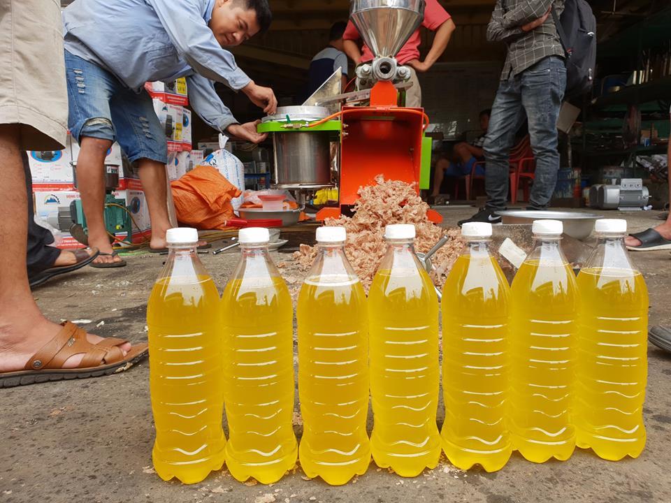 Máy ép lạc lấy dầu ăn