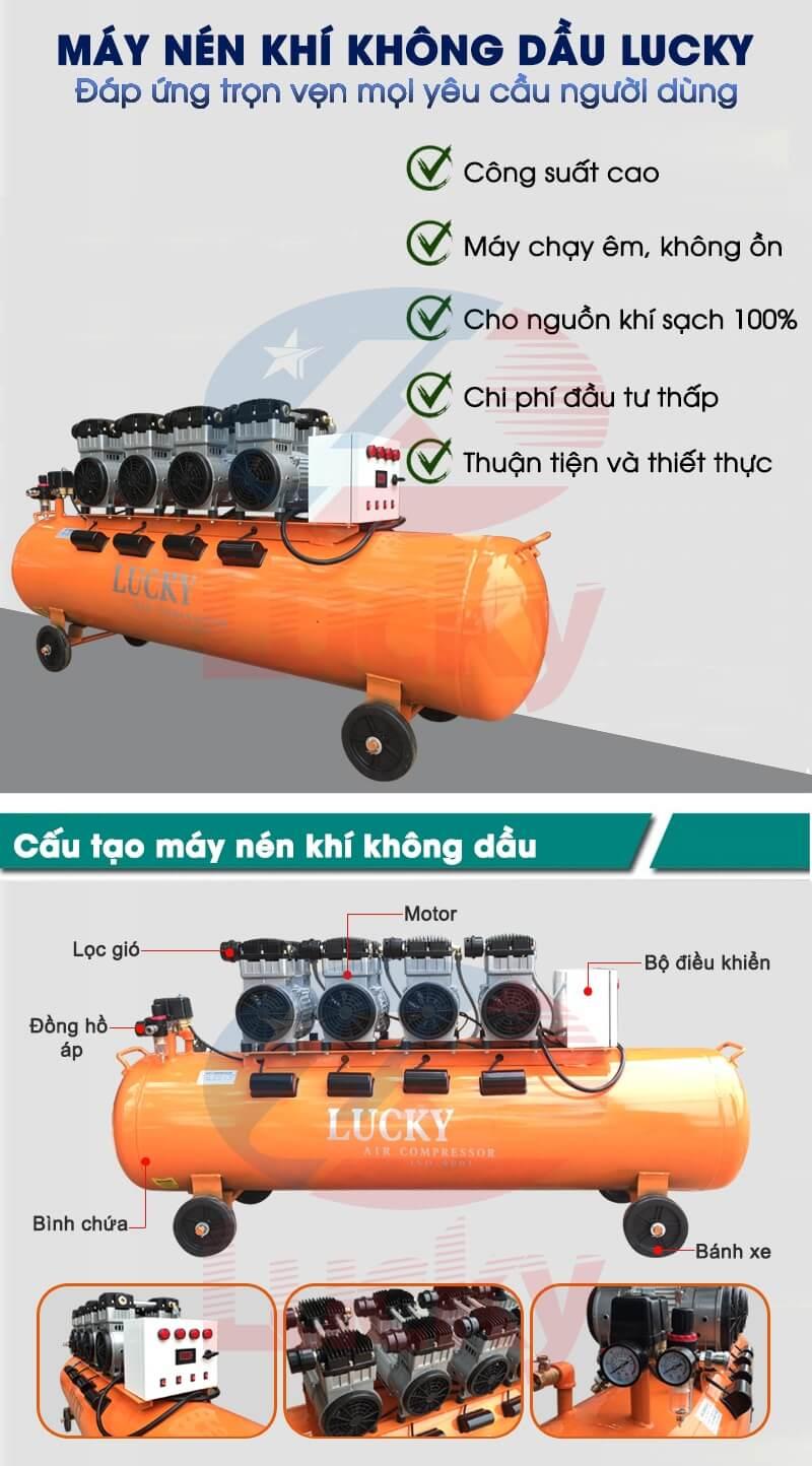 máy nén khí không dầu là gì