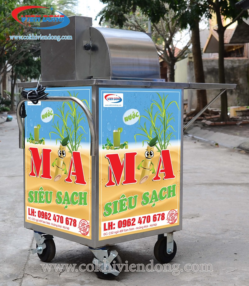 Xe nước mía X3 500 - Tiết kiệm hiệu quả diện tích sử dụng